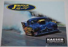 2016 Jeff Brooks JEB Four Kaeser Compressors Henry J Sportsman NHRA postcard