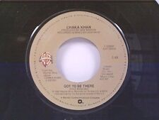 """CHAKA KHAN """"GOT TO BE THERE / PASS IT ON A SURE THING"""" 45 MINT"""