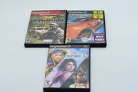 Lot of 3 PS2 Video Games: Socom3, Final Fantasy X-2, NFS Underground - FREE SHIP