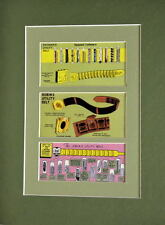 BATMAN, ROBIN & JOKER UTILITY BELTS PRINT PROFESSIONALLY MATTED
