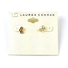 LC Lauren Conrad Gold Geometric Stud Post Earrings