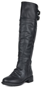 DREAM PAIRS  Women's  Over The Knee Military Combat Boots (WIDE CALF AVAILABLE)