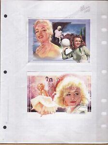 MARILYN MONROE movies  2 SOUVENIR SHEETS USED