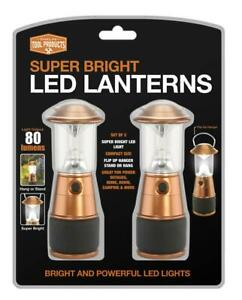 """2 Pack Mini Cooper Lantern 80 lumens, 5.9"""" H x 2.2"""" D, Camping, Power Outage"""