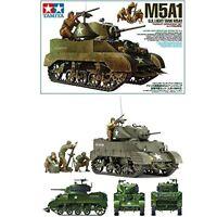 TAMIYA 1/35 U.S. Light Tank M5A1 Hedgehog Pursuit Operation Set Model Kit NEW