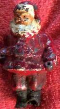 Santa Claus Vintage Metal Full Of Imperfections Iron Christmas Old Keepsake