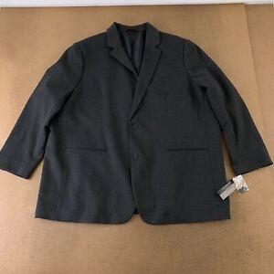 Alfani Men's Big & Tall Size 3XB Black Ice Heather Two Button Suit Jacket NWT