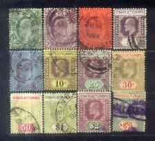 1904-10 Malaya Malaysia Straits Settlements KEVII 1c to $5 (12V)  CV  Rm 1100