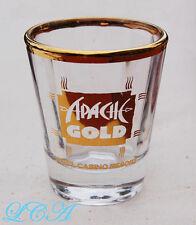 Contemporary APACHE GOLD souvenier TEQUILA fancy beveled SHOT GLASS