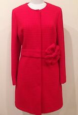 REDUCED!!!!! NEW MOSCHINO RED WAFFLE CORSAGE BOW COAT SIZE 16