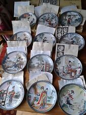 Imperial Jingdezhen Porcelain 12 Plates in the 'Beauties of the Red Mansion'