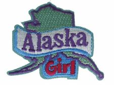 Alaska Girl State Embroidered Patch F2D17Ck