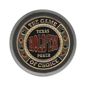 NEW Texas Hold'Em - The Game of Choice Poker Card Guard *GOLD*
