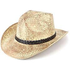 Sombrero cowboy paja Sol Unisex Fedora Western resistido Efecto Negro Hawkins verano