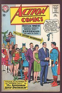 Action Comics #309 DC 1964 VF- JFK Posthumous Appearance