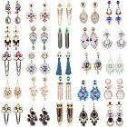 Charm Women's Long Tassel Design Silver/Gold Plated Dangle Crystal Earrings Gift