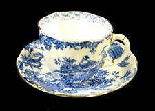 Beautiful Royal Crown Derby Blue Aves Cup And Saucer