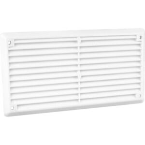 Louvre Plastic Vent  - White -  (NEW) - Pack of 1