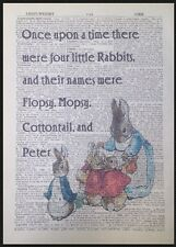 Beatrix Potter Quote Peter Rabbit Vintage Dictionary Book Page Print Art Picture