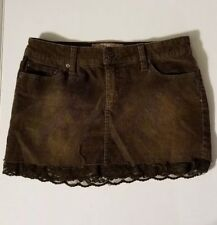 YMI Corduroy with Lace Brown Mini Skirt - Juniors Size 5