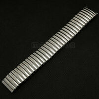 18mm Stainless Steel Buckle Silver Expansion Stretch Wrist Watch Band Strap Gift