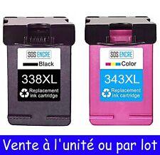 SOS ENCRE - Cartouches d'encre compatibles HP 338 et 343 XL ( à l'unité ou Lot )