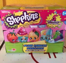 Box of (20) Shopkins Plush Hangers Mystery Packs Series 3 Peach, Tomato,Sneaker