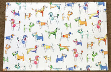 Colorful Dogs Indoor/Outdoor Single Placemat by Designer Cynthia Rowley New York