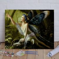 16X20'' Butterfly Fairy Paint By Numbers Kit Digital Acrylic DIY Canvas Painting