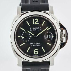 Panerai Luminor Marina, PAM 104, Men's, Stainless Steel, Black Dial, 44mm, Auto