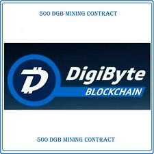 500 Digibyte (DGB) CRYPTO MINING-CONTRACT - (500 DGB)