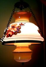 BEAUTIFUL LARGE VINTAGE HANGING SWAG LAMP HOME & GARDEN CEILING LIGHT FIXTURE