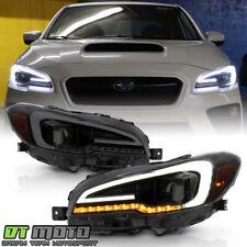 2015-2020 Subaru WRX STI Black Smoked LED Sequential Signal Projector Headlights