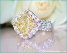 Reinheit VVS Sehr gute Echte Diamanten-Ringe aus Weißgold