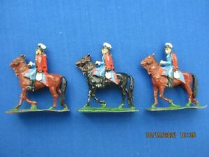 """S.A.E 30 MM LEAD FIGURES """"DANISH HUSSARS 1914"""" FROM SET #65 THREE (3) PIECES"""