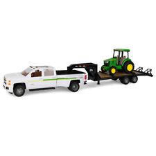 Tomy Big Farm 1:16 Scale John Deere 4066R Tractor w/Trailer & Chevy 3500 Truck