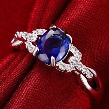 Fashion Jewelry For Women Round Shape Rhinestone Crystal Ring Charming 6A
