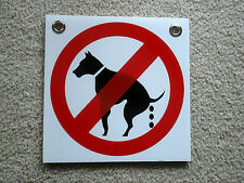 "NO DOG POOP   8""X 8"" Plastic Coroplast Sign with Grommets  NEW"