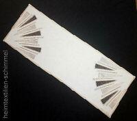 PLAUENER SPITZE ® Tischdeckchen Deckchen Tischdeko Deko Tischdecke Decke 26x73cm