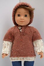 OUR GENERATION AMERICAN GIRL BOY BROWN JUMPER & HAT SET CLOTHES FOR 18INCH  DOLL