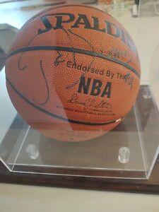 Joe Dumars Signed Spalding Basketball with Case