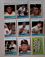 Lot of 9 1964 Topps CHICAGO WHITE SOX vintage baseball cards HOYT WILHELM