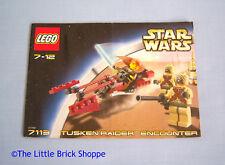 LEGO Star Wars 7113 Tusken Raider incontro-SOLO ISTRUZIONI-NO LEGO mattoni