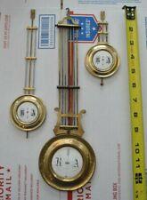 Lot of 3 Antique R & A Clock Lyre Pendulum Parts With Enamel Insert