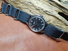 Usati vintage LONGINES QUADRANTE NERO SUB ruota dei secondi Manuale Vento Man's Watch