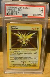 Zapdos 1st Edition Base Set 16/102 Dutch PSA 7 POP 1 Pokemon 1999 Rare Holo