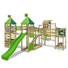 FATMOOSE Spielturm Kletterturm LuckyLord Large XXL Holz Garten mit Turmanbau