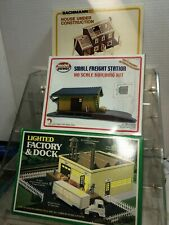 3 HO building kits from Bachmann and Model Power
