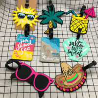Cartoon Soft Rubber Luggage Tag Information Storage Card Cover Boarding Board