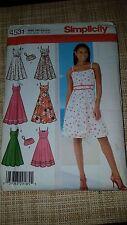Simplicity Bodice Sun Dress And matching purse Pattern #4531 Size 6,8,10,12 USA